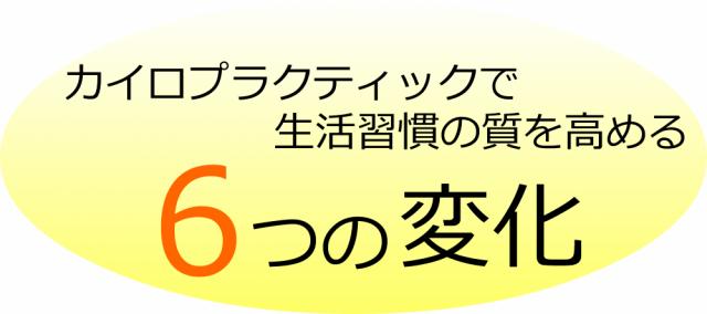 カイロプラクティックで生活習慣の質を高める6つの変化画像。千葉県柏市で整体院をお探しなら宮田カイロプラクティック!