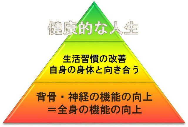 健康ピラミッド。柏市で整体なら宮田カイロプラクティックにお任せください。