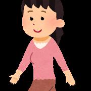 歩く女の人の画像