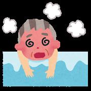 お風呂でのぼせる画像