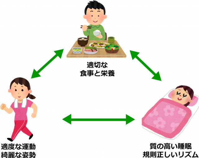 自宅で体を改善する3つのポイント画像。千葉県柏市で整体院をお探しなら宮田カイロプラクティック!