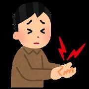 腱鞘炎のイラスト画像。
